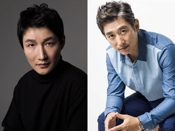 Actors Heo Dong-won, left, and Kim Won-hae test positive for Covid-19 on Thursday. [ACE FACTORY, SSGG COMPANY]