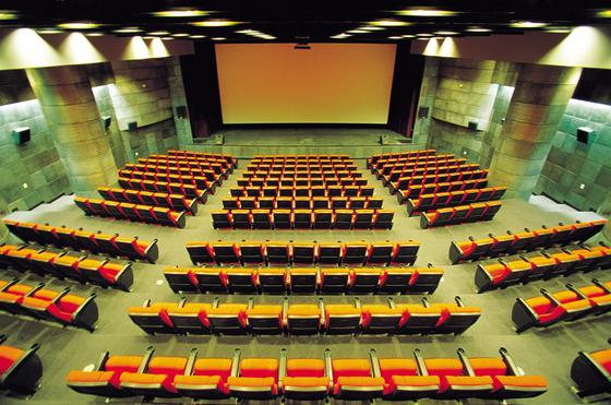 The theater inside Cinecube Gwanghwamun [TCAST]
