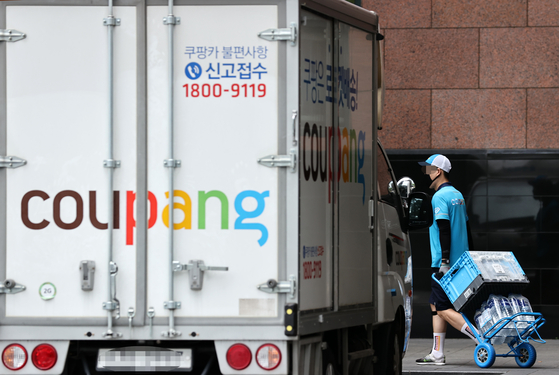 Coupang's delivery truck [Yonhap]