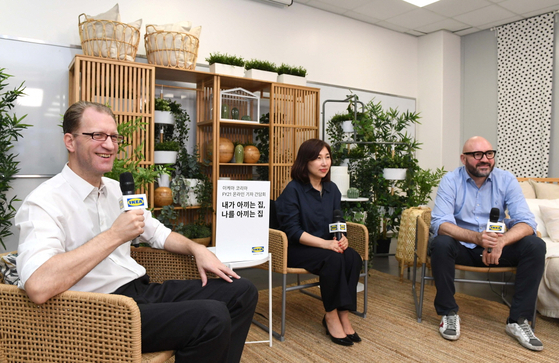 IKEA Korea Country Retail Manager Fredrik Johansson, far left, speaks at an online press event held Tuesday. [IKEA KOREA]