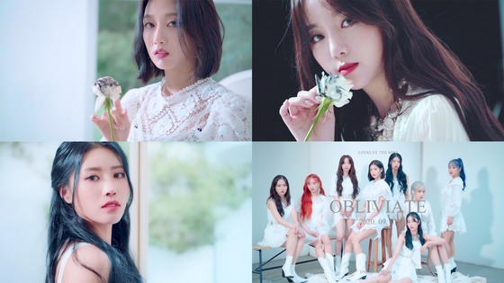 "Captured images from girl group Lovelyz's trailer videos for ""Unforgettable"" [WOOLLIM ENTERTAINMENT]"