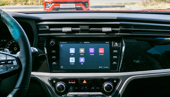 SsangYong Motor's new connected car system dubbed Infoconn was launched in April in partnership with LG U+ and Naver's artificial intelligence (AI) platform Clova. [SSANGYONG MOTOR]