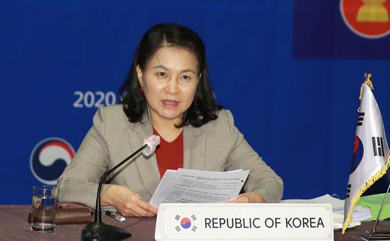 Korea's trade minister Yoo Myung-hee [YONHAP]