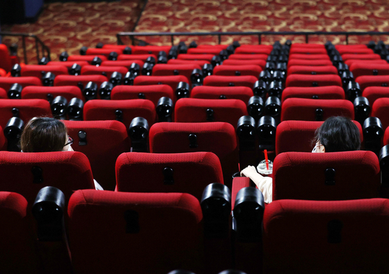 In this file photo taken on Aug. 26, a movie theater in Seoul is almost empty. [YONHAP]