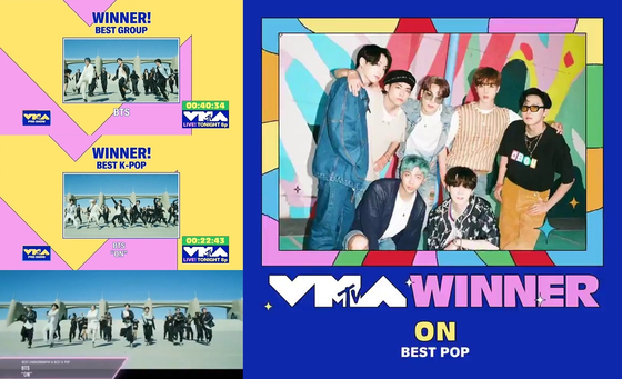 BTS is awarded the Best Group and Best K-pop award. [BIG HIT ENTERTAINMENT]