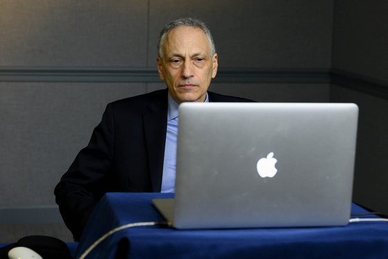 Robert Soofer, U.S. deputy assistant secretary of defense for nuclear and missile defense policy, speaks in a virtual forum hosted by the Air Force Association's Mitchell Institute's Nuclear Deterrence forum from the Pentagon in Washington on Wednesday. [U.S. DEPARTMENT OF DEFENSE]