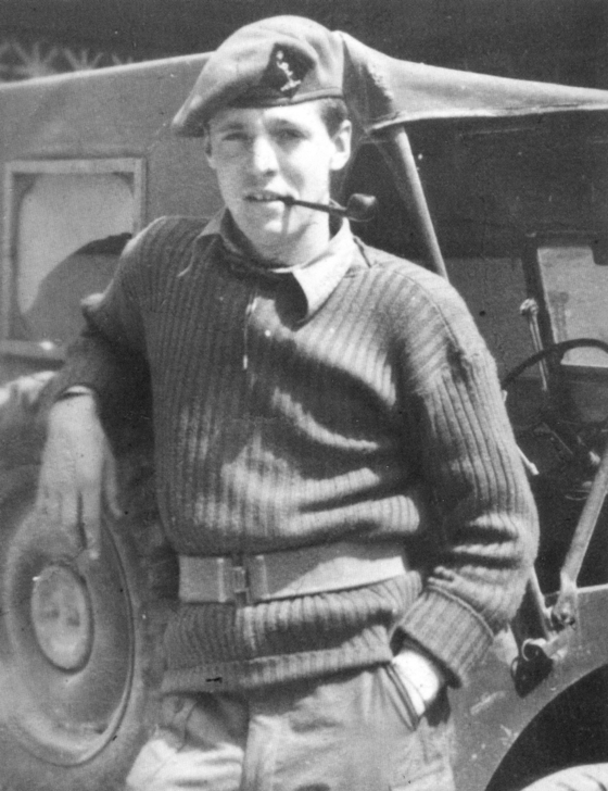 Des Vinten, New Zealand veteran of the Korean War (1950-1953), in this photo taken during his first posting to the Forward Maintenance Area in Seoul during the war. [DES VINTEN]