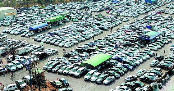 A used-car dealership in Yongdap-dong in Seongdong District, eastern Seoul. [NEWS 1]