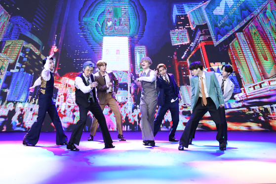BTS performs at the MTV 2020 Video Music Awards. [BIG HIT ENTERTAINMENT]
