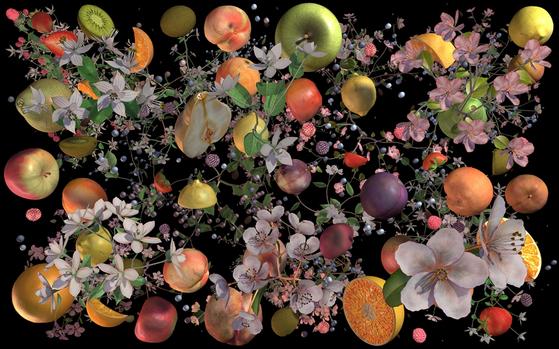"Jennifer Steinkamp's 'Still-Life 4"" (2020). [Leeahn Gallery]"