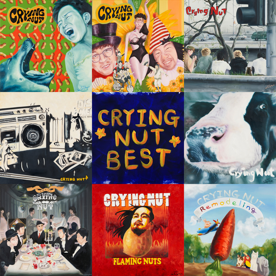 The best album cover, created by Lee Sang-myun, who plays the guitar at Crying Nut. [DRUG RECORD]