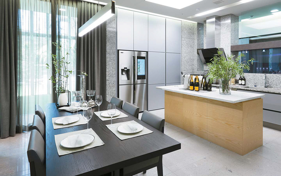 A model home for Raemian with IoT features. [JOONGANG PHOTO]