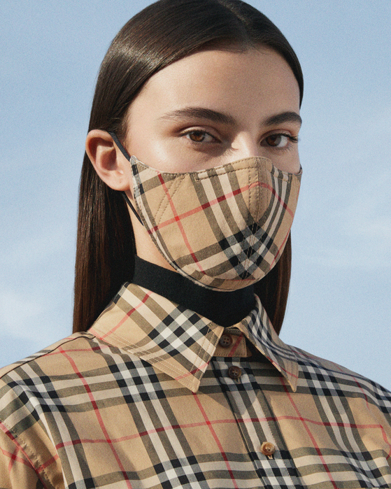 British luxury fashion house Burberry released its adjustable and reusable antibacterial cotton mask on Aug. 20. [Burberry]