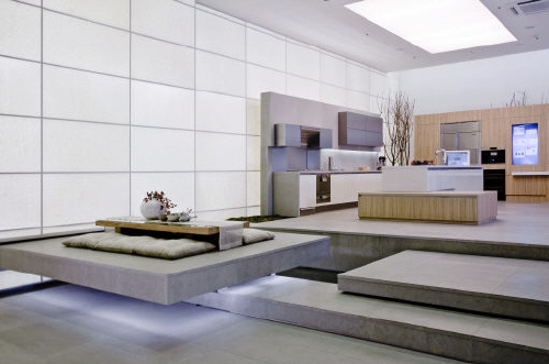 A model home from 2009 with features inspired by the cutting-edge technology at the time. [JOONGANG PHOTO]