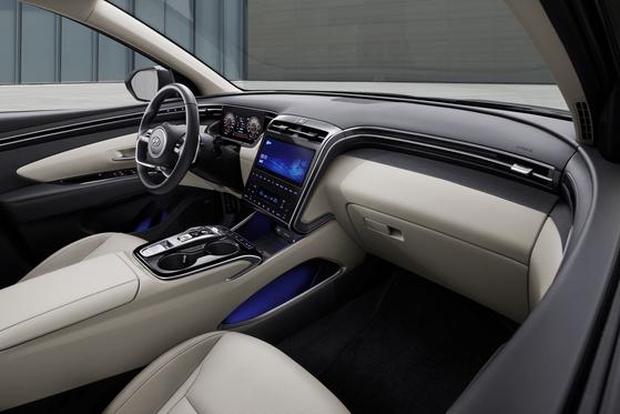 The interior of Hyundai Motor's Tucson compact SUV. [HYUNDAI MOTOR]