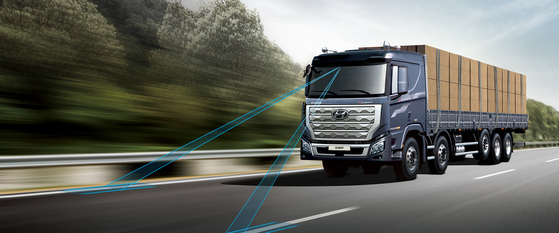 Hyundai Motor's Xcient truck installed with autonomous technology. [HYUNDAI MOTOR]