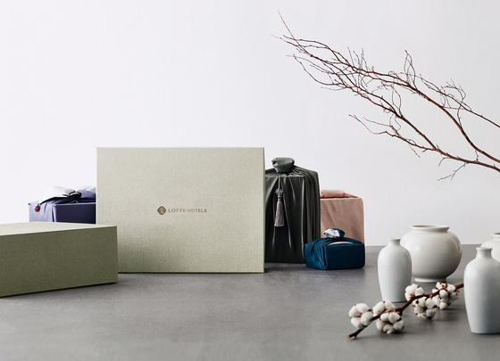 Gift sets prepared by Lotte Hotel. [LOTTE HOTEL SEOUL]