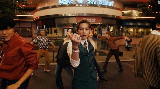 "K-pop boy band BTS performs on ""America's Got Talent"" on Wednesday. [BIT HIT ENTERTAINMENT]"
