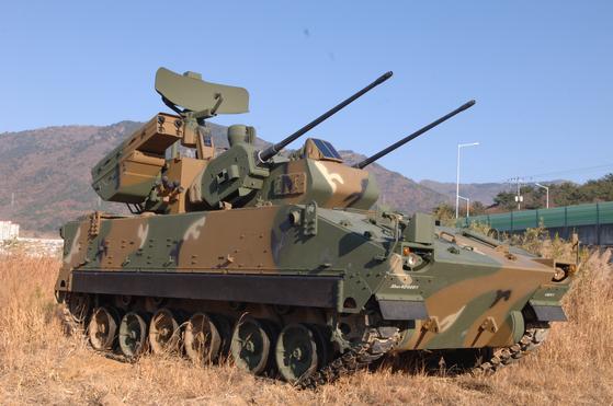 The K30 Biho anti-aircraft system. [HANWHA DEFENSE]