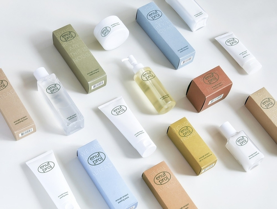 Cosmetics products from Amorepacific's online brand Enough Project, which is only available through e-commerce operator Coupang. [ENOUGH PROJECT]
