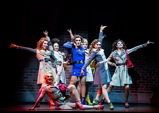 Musical 'Kinky Boots' is a story about a man named Charlie, an owner of a shoe factory, teaming up with a drag performer Lola to revive his dying business. [CJ ENM]