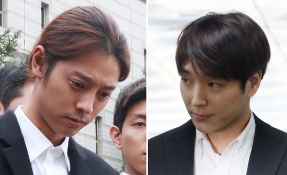 Singers Jung Joon-young, left, and Choi Jong-hoon. [YONHAP]