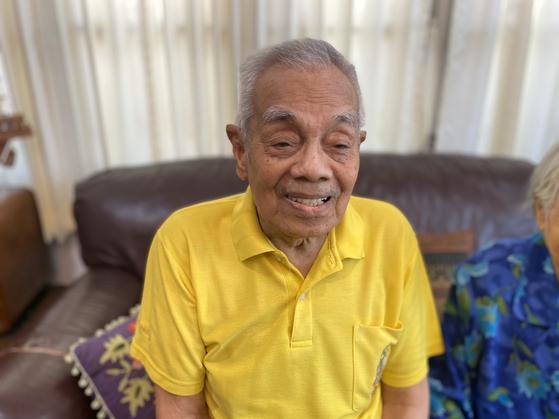 Lt. Col. Tonuan, 94, in a photo taken recently. [BANJOP TONUAN]