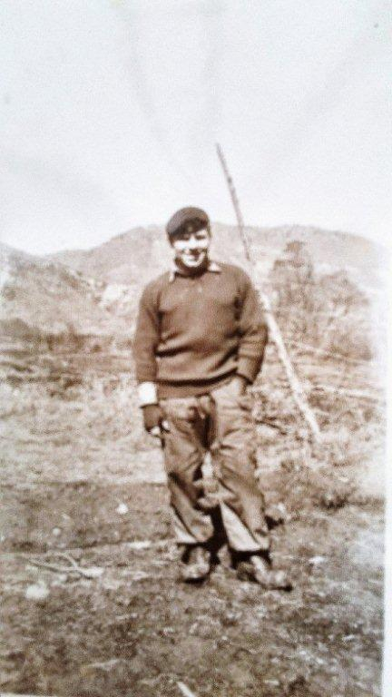 Alan Guy MBE, who served from January 1952 to September 1953 as a sergeant in the Royal Army Medical Corps, during his service in Korea. [ALAN GUY MBE]