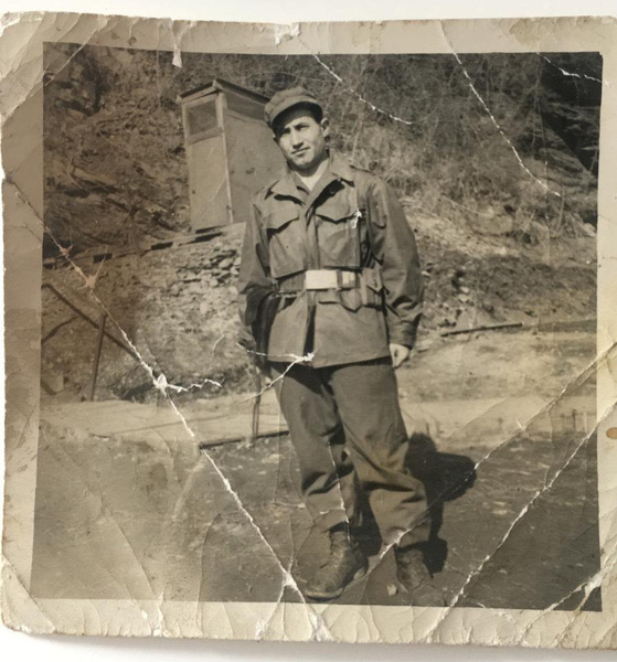 Muhit Karaman served in the war from 1951 to 1952 as a liaison and logistics officer of the Turkish brigade. He was 20 when he arrived. [MUHIT KARAMAN]