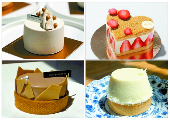 Clockwise from top left: a small cake from L'aubenuit; Maison M'O; Quelquechose; I Pho U. [EACH INSTAGRAM, LEE SUN-MIN]
