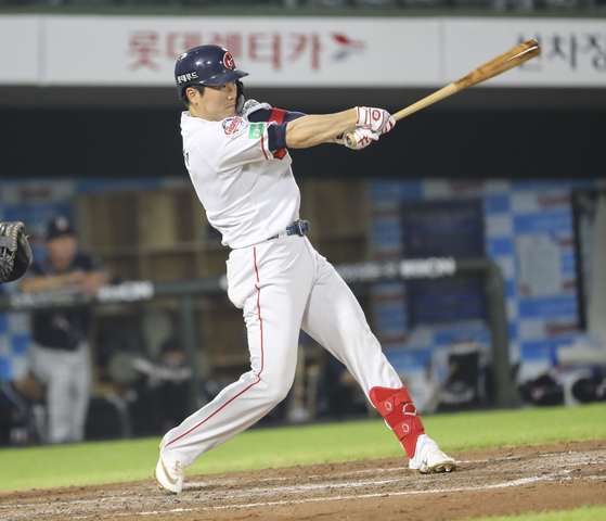 Oh Yoon-suk of the Lotte Giants [YONHAP]