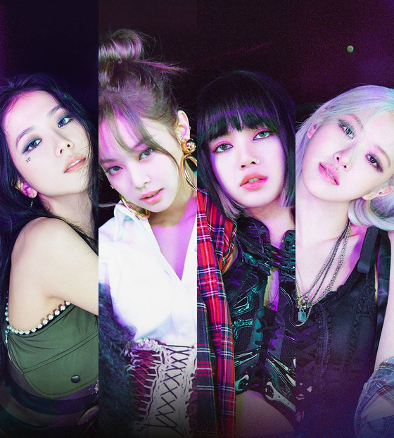 """The official image for Blackpink's """"Lovesick Girls,"""" the lead track of the group's first full-length album titled """"The Album."""" [YG ENTERTAINMENT]"""