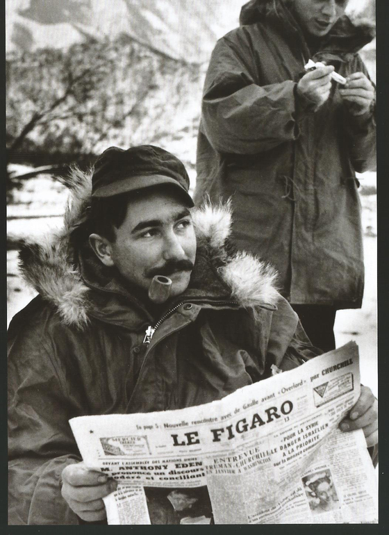A French soldier reading Le Figaro in Korea during the war. [ECPAD/RAYMOND BENARD]