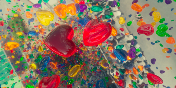 Jelly creatures are traces of human desires that can harm people. [NETFLIX]