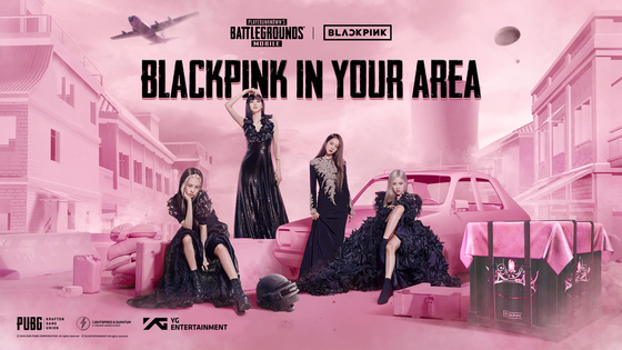 """Girl group Blackpink also collaborated with the mobile version of local shooter game PlayerUnknown's Battlegrounds, by playing the band's track 'How You Like That"""" (2020) as the background music for players waiting at the 'lobby"""" at the beginning of the game. [YG ENTERTAINMENT]"""