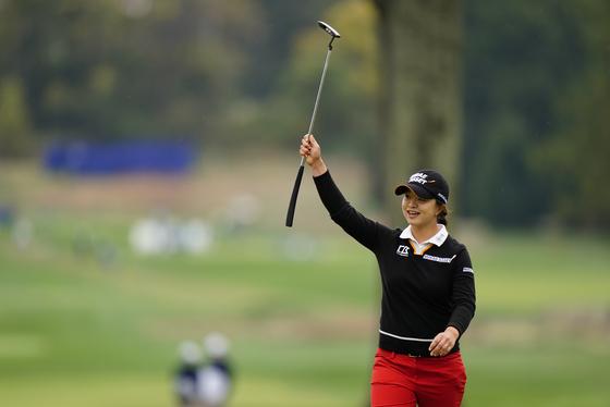 Kim Sei-young celebrates after winning the KPMG Women's PGA Championship at Aronimink Golf Club in Newtown Square, Pennsylvania on Sunday. [AP/YONHAP]