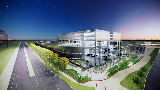 A computer-generated image of Hyundai Motor Group's Innovation Center in Singapore, for which an online groundbreaking ceremony was held on Oct. 13. [HYUNDAI MOTOR GROUP]