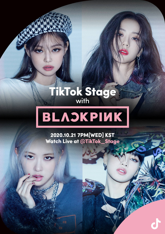 """Poster image for """"TikTok Stage with Blackpink"""" set to take place on Oct. 21, 7 p.m. [YG ENTERTAINMENT]"""