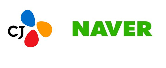 Logo of CJ Group and Naver. [CJ GROUP, NAVER]