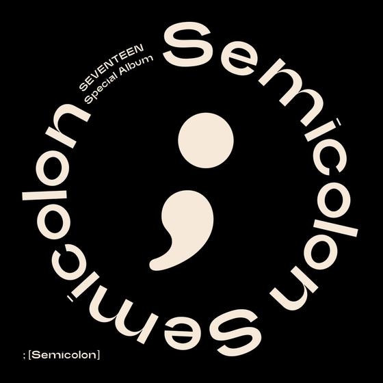 "The cover image for the special album ""; [Semicolon]."" [PLEDIS ENTERTAINMENT]"