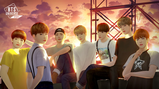 "Netmarble's latest social game ""BTS Universe Story,"" which features the BTS universe story for players to experience. [NETMARBLE]"