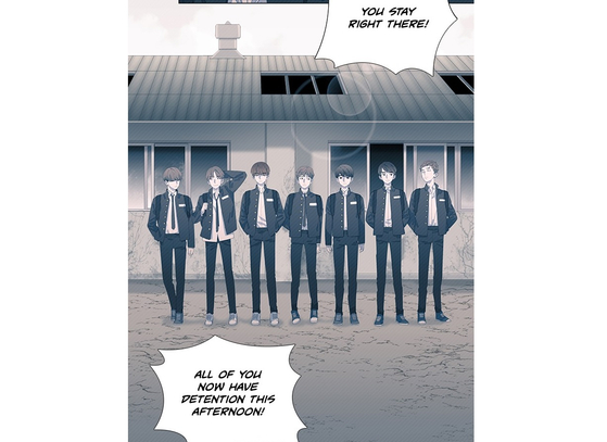 "A captured image from the 2018 Naver Webtoon ""Save Me,"" based on the BTS universe story. [SCREEN CAPTURE]"