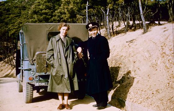 Tove and Svend Jagd during their medical mission to Korea on Jutlandia during the Korean War (1950-1953). [DANISH JUTLANDIA VETERANS]