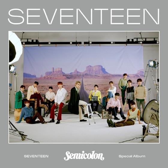 "Album cover of Seventeen's ""; [Semicolon]."" [PLEDIS ENTERTAINMENT]"