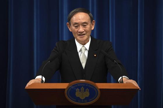 Japanese Prime Minister Yoshihide Suga [AP/YONHAP]