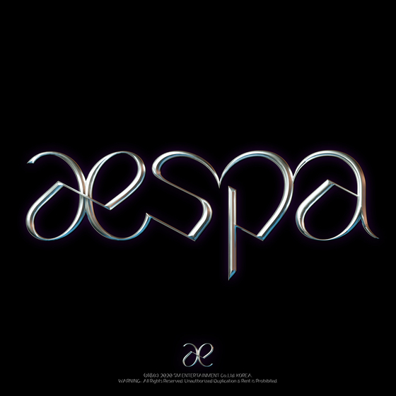 The logo image for SM Entertainment's new girl group aespa to debut next month. [SM ENTERTAINMENT]