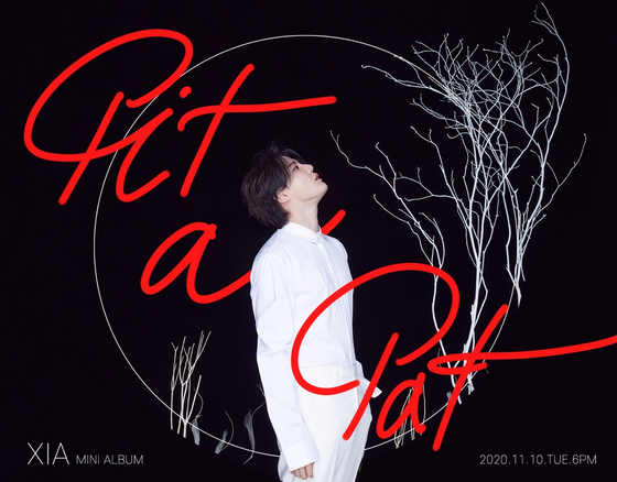 """The cover image for Kim Jun-su's upcoming EP """"Pit a Pat."""" [C-JES ENTERTAINMENT]"""