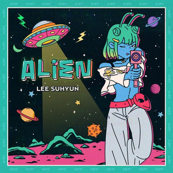 "Cover of Lee Su-hyun's solo single ""Alien."" [YG ENTERTAINMENT]"