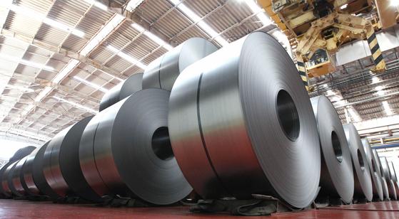 Hyundai Steel's cold-rolled steel. [YONHAP]