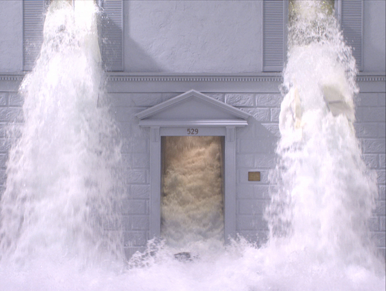 """An Image from Bill Viola's video work 'The Deluge."""" [BUSAN MUSEUM OF ART]"""